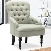 Best Quality Furniture Club Chair; Light Green
