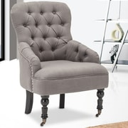 Best Quality Furniture Club Chair; Gray
