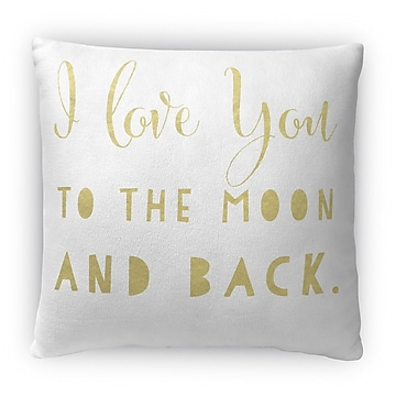 Kavka To The Moon and Back Fleece Throw Pillow; 18'' H x 18'' W x 4'' D