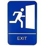 "Update International 6"" x 9"" Braille Exit Sign (S69B-10BL)"