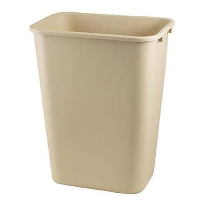 Impact Products 10 Gallon Wastebasket, Beige (7703-15)