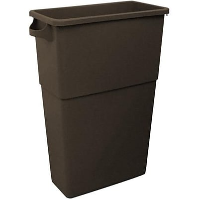 Impact Products Thin Bin™ 23 Gallon Rectangular Trash Can, Brown (7023-4)