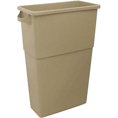 Impact Products 23 Gallon Rectangular Trash Can, Beige (7023-15)