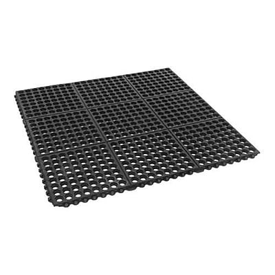 Cactus Mat Co. Floor Mat, Black, 3' x 3' (2523-C)