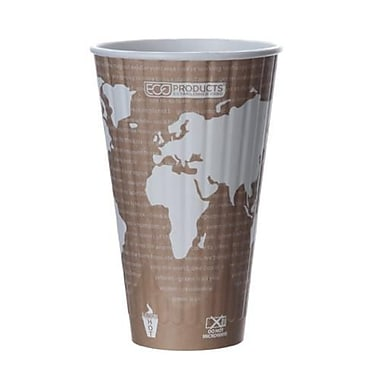 Eco-Products 20 Oz. World Art™ Insulated Hot Cups, 600/Pack (EP-BNHC20-WD)
