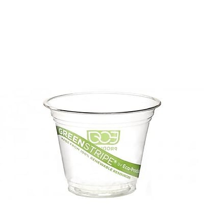 Eco-Products 9 Oz. GreenStripe® Cold Cups Convenience Pack, Clear, 50/Pack (EP-CC9S-GSPK)