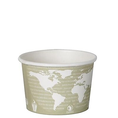 Eco-Products 16 Oz. World Art Renewable and Compostable Soup Containers, 500/Pack (EP-BSC16-WA) 2475777
