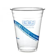Eco-Products 20 Oz. Recycled BlueStripe™ PET Cold Cups, Blue, 1000/Pack (EP-CR20)