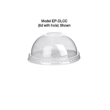 Eco-Products 9-24 Oz. GreenStripe® Dome Corn Cold Cup Lids Without Hole, Clear, 1000/Pack (EP-DLCC-NH)