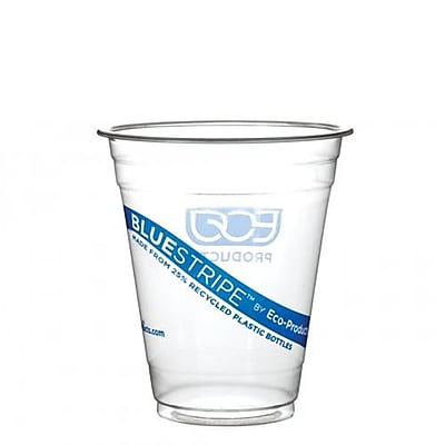 Eco-Products 12 Oz. Recycled BlueStripe™ PET Cold Cups Convenience Pack, Clear, 50/Pack (EP-CR12PK)