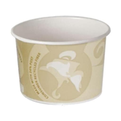 """Eco-Products 8 Oz. Evolution World™ Food Container 24 Percent Post, 3.52"""" Dia X 2.38"""" H, 1000/Pack (EP-BRSC8-EW)"""