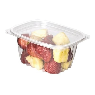 Eco-Products 16 Oz. PLA Rectangular Deli Containers with Lids, 5-7/8