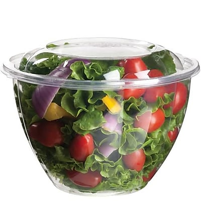 Eco-Products 48 Oz. PLA Salad Bowls with Lids, 6 11/16