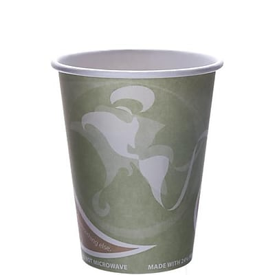 Eco-Products 12 Oz. Evolution World Hot Cups Convenience Pack, Green, 50/Pack (EP-BRHC12-EWPK) 2475517