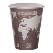 Eco-Products 8 Oz. World Art™ Hot Cups Convenience Pack, Yellow, 50/Pack (EP-BHC8-WAPK)