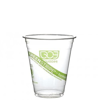 Eco-Products 12 Oz. GreenStripe Cold Cups Convenience Pack, Clear, 50/Pack (EP-CC12-GSPK) 2475670