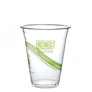 Eco-Products 16 Oz. GreenStripe® Cold Cups Convenience Pack, Clear, 50/Pack (EP-CC16-GSPK)