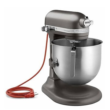 KitchenAid Commercial Dark Pewter (Silver) 8 Qt Commercial Stand Mixer, Dark Pewter (Silver), 16 1/2  H x 13.3  W x 14.6  D,Size: large