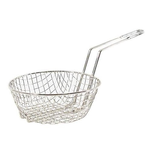 "Update International 8"" Round Fryer Basket, Nickel-Plated (63245)"