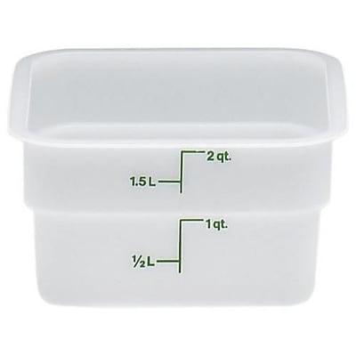 Cambro 2 Qt. CamSquare® Food Storage Container, 7 1/4