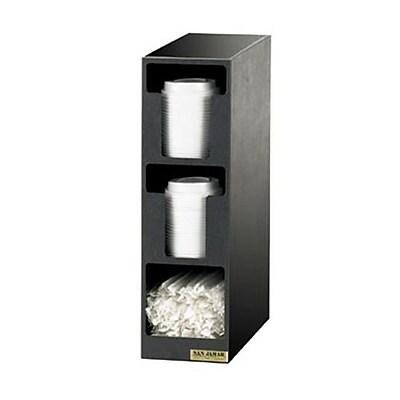 San Jamar 3-Section EZ-Fit Lid/Straw Dispenser (L2202) 2475213