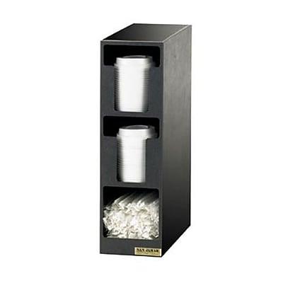San Jamar 3-Section EZ-Fit® Lid/Straw Dispenser (L2202)