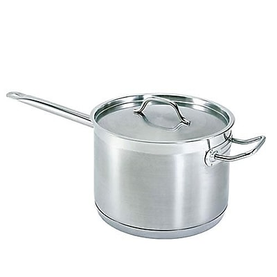 Update International Induction Ready Sauce Pan, Stainless Steel, 10 Qt. (SSP-10)