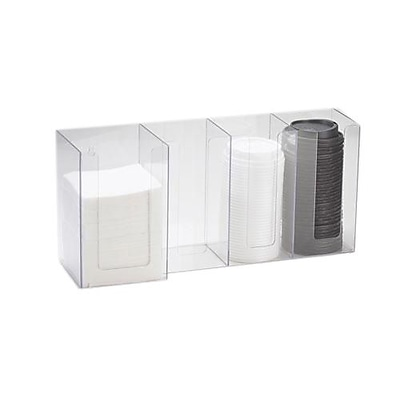 Cal-Mil 4 Section Napkin and Lid Dispenser (376-12)