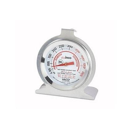 Winco 500 F Oven Thermometer, Silver, 3.8