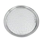 "Update International 14"" Round stainless serving Tray, 14"" L X 14"" W X 0.75"" H, Silver, 1/Pack (SST-14R)"