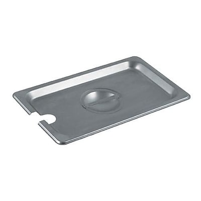 Update International Fourth Size Notched Pan Cover, Silver (STP-25LDCS)