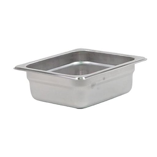 "Update International Sixth Size 2 1/2"" (Depth) Steam Table Pan, 6 3/4"" L x 6 1/4"" W x 2 1/2 "" D, Silver (NJP-162)"