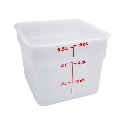 Cambro 6 Qt. CamSquare® Food Storage Container, 8 3/8