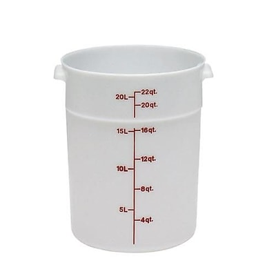 Cambro 22 Qt. Food Storage Container, 14 7/8