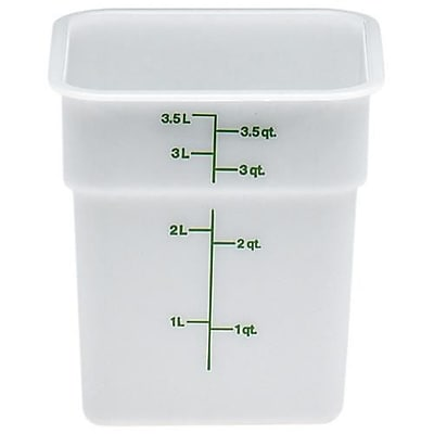 Cambro 4 Qt. CamSquare® Food Storage Container, 7 1/4