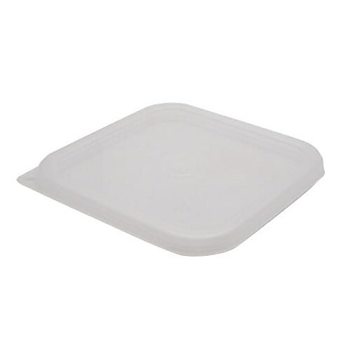 """Cambro 12, 18 and 22 Qt. CamSquare® Seal Cover, 11 2/5"""" L X 11 2/5"""" W, Translucent, 6/Pack (SFC12SCPP190)"""
