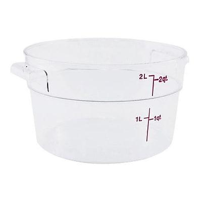 Cambro 2 Qt. Camwear® Food Storage Container, 8 3/16