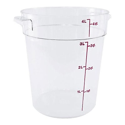 Cambro 4 Qt. Camwear® Food Storage Container, 8 3/16