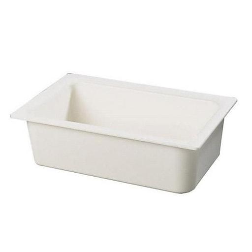 "Carlisle 6"" Coldmaster® Full Size Food Pan, 20 3/4"" L x 12 3/4 "" W x 6"" D, White (CM110002)"