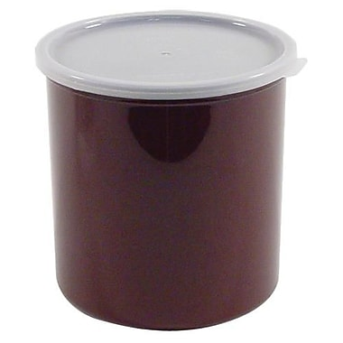 Cambro 2.7 Qt. Brown Crock with Lid, 6 3/4