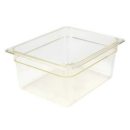 "Cambro 1/2 Size 6"" Deep H-Pan™ Food Pan, 12 3/4"" L x 10 7/16"" W, Amber, 6/Pack (26HP150)"