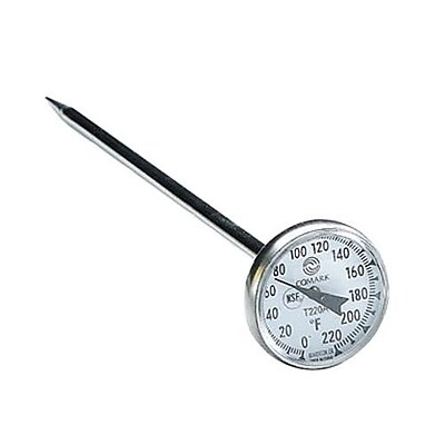 Comark 220 F Dial Thermometer, Black, 1