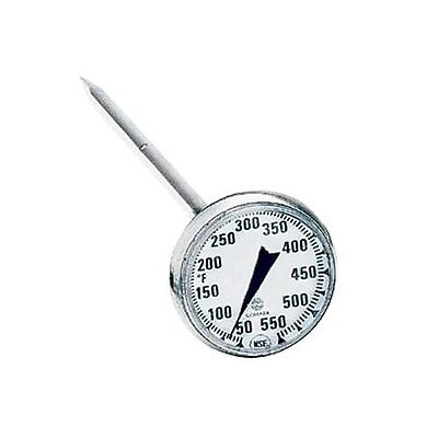 Comark 550 F Fryer Thermometer, Silver