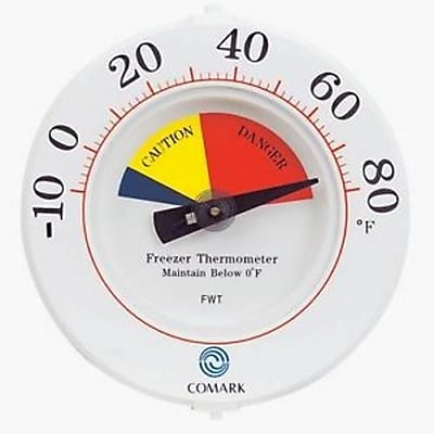 Comark 80 F Freezer Thermometer, White