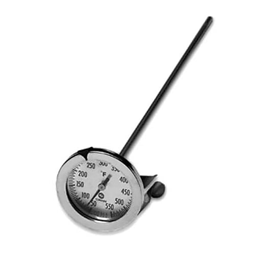 """Comark 550 F Candy/Fryer Thermometer, Silver, 12"""" L"""