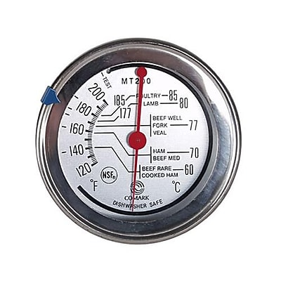 Comark 200 F Meat Thermometer, Silver, 7.7