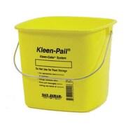 San Jamar 6 Qt. Kleen-Pail® Yellow Bucket (KP196KCYL)