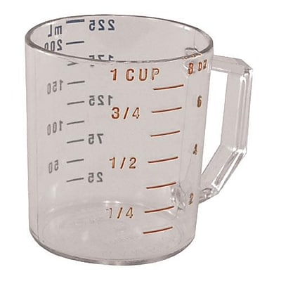 Cambro Camwear 1 Cup Measuring Cup, Polycarbonate (25MCCW135) 2479738