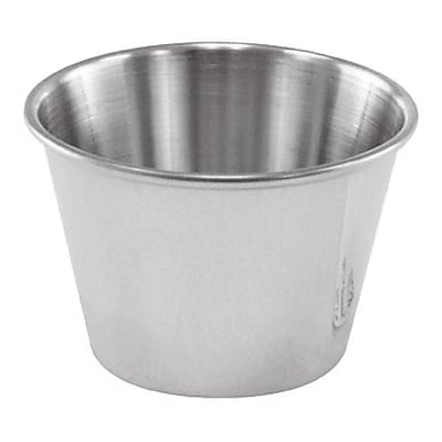Update International 2 1/2 Oz Stainless Steel Cocktail Dish/Sauce Cup (SC-25) 2476166
