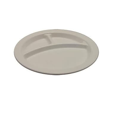 Cambro Camwear 3 Compartment Plate, 48/Pack (93CW148)